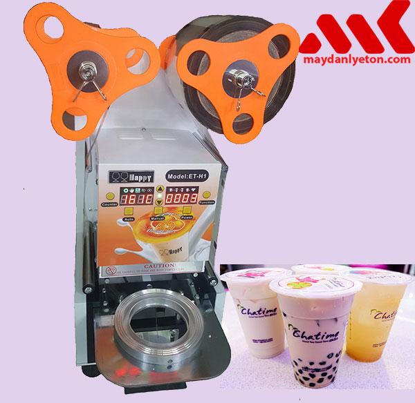 Máy dán miệng ly trà sữa tự động hoàn toàn ET- H1