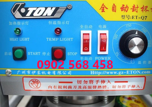 máy dán miệng ly tự động ET-Q7